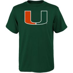 Miami Hurricanes Big Boys Large Logo Short Sleeve T-Shirt