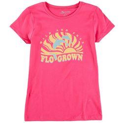 FloGrown Big Girls Wild And Free Short Sleeve T-Shirt