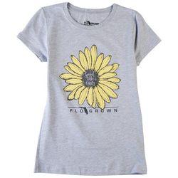 FloGrown Big Girls Good Vibes Only Sunflower T-Shirt