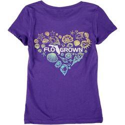 FloGrown Big Girls Heart Seashell T-Shirt