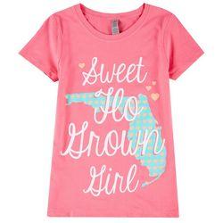 FloGrown Big Girls Sweet Girl Short Sleeve T-Shirt