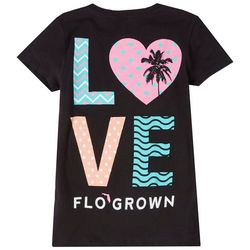 FloGrown Big Girls Love Logo Short Sleeve T-Shirt