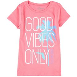 FloGrown Big Girls Good Vibes Only Short Sleeve T-Shirt