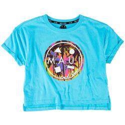 Maui & Sons Big Girls Boxy Logo T-Shirt