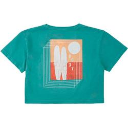 Big Girls Cropped Geo Surf T-Shirt