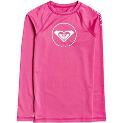 Roxy Big Girls Beach Classics Logo Long Sleeve Rashguard