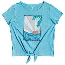 Roxy Little Girls Tie Front Tee