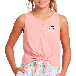Little Girls Barbie Cropped Tank Top