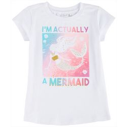 Reel Legends Little Girls Im Actually A Mermaid T-Shirt