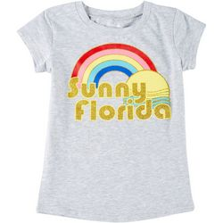 Reel Legends Little Girls Short Sleeve Sunny Florida T-Shirt