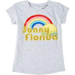 Little Girls Short Sleeve Sunny Florida T-Shirt