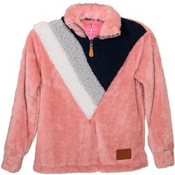 Simply Southern Big Girls Color Block Sherpa Pullover