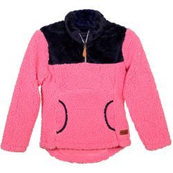 Simply Southern Big Girls Colorblock Sherpa Pullover