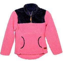 Big Girls Colorblock Sherpa Pullover