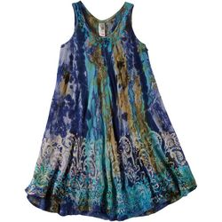 India Boutique Little Girls Watercolor Swim Cover-Up