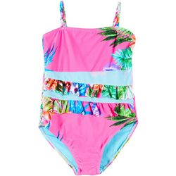 1st Kiss Big Girls Tropical Floral Swimsuit
