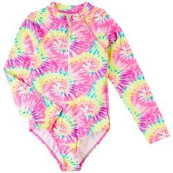 Big Girls Tie Dye Rashguard Swimsuit