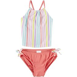 Mia & Miles Little Girls 2-pc. Stripe Tankini