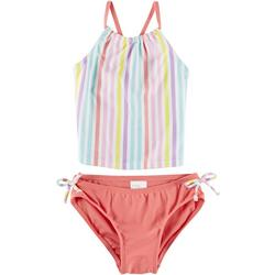 Little Girls 2-pc. Stripe Tankini Swimsuit
