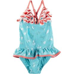 Floatimini Little Girls Unicorn Petal Swimsuit