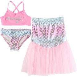 Floatimini Little Girls 3-pc. Mermaid Swimsuit Set