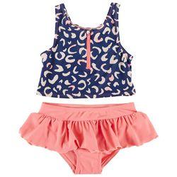 Floatimini Little Girls 2-pc. Leopard Rashguard Swimsuit