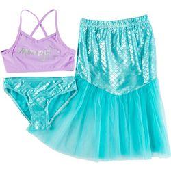 Floatimini Little Girls 3-pc. Mermaid Swimsuit Set