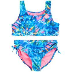 Big Girls 2-pc. Tie Dye Logo Tankini Swimsuit