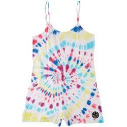 Maui & Sons Big Girls Tie Dye Print Romper Cover Up