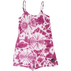 Maui & Sons Big Girls Tie Dye Circle Romper Cover Up