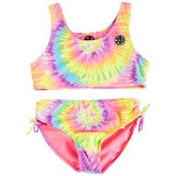 Maui & Sons Big Girls 2-pc. Tie Dye Tankini Swimsuit