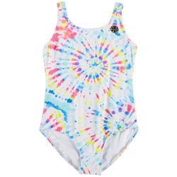 Big Girls Tie Dye One-Piece Swimsuit