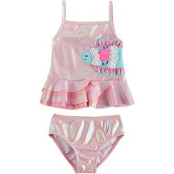 Flapdoodles Little Girls 2-pc. Fish Tankini Swimsuit