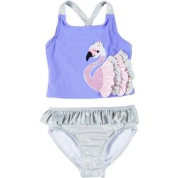 Flapdoodles Little Girls 2-pc. Swan Tankini Swimsuit