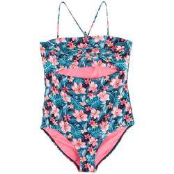 Hurley Big Girls Hibiscus One-Piece Swimsuit