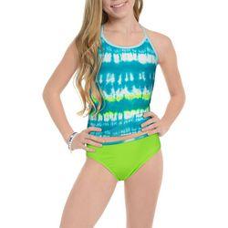Under Armour Big Girls 2-pc. Tie Dye Tankini Swimsuit