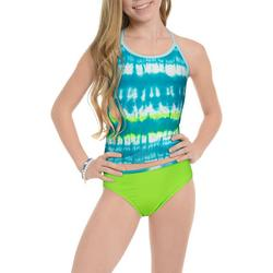 Big Girls 2-pc. Tie Dye Tankini Swimsuit