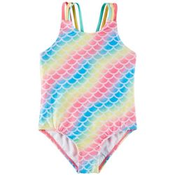 Little Girls Rainbow Swimsuit