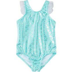 Little Girls Foil Mermaid Scale Swimsuit