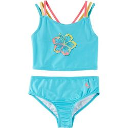 Reel Legends Big Girls Floral Tankini Swimsuit