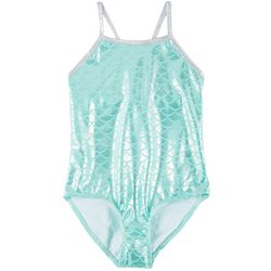 Big Girls Foil Mermaid Scale Swimsuit