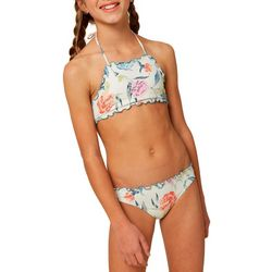 O'Neill Big Girls 2-pc. Batik Floral High Neck
