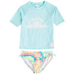 Shelloha Big Girls 2-pc. Sunshine In Rashguard Swimsuit