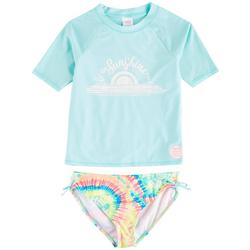 Big Girls 2-pc. Sunshine In Rashguard Swimsuit