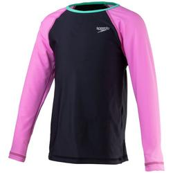 Big Girls Solid Raglan Rashguard