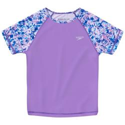 Big Girls Tie Dye Raglan Rashguard