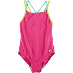Big Girls Solid Strappy Swimsuit