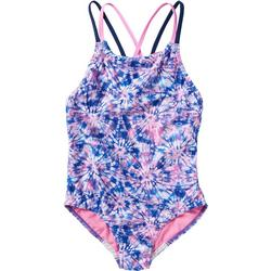 Big Girls Printed Strappy Swimsuit