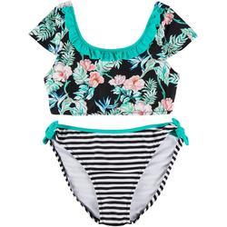 Big Girls Hibiscus Bikini Set