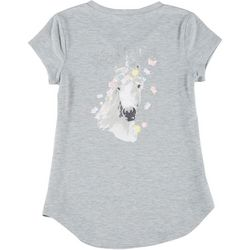 Lily Bleu Big Girls Short Sleeve Believe Top